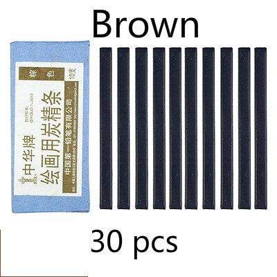Черный уголь, брусок коричневый темно-серые растворимые в воде черный угольный карандаш дизайн Тип карандаш для рисования скетчей Рисование набросков расходные материалы - Характеристики: Brown 3boxes