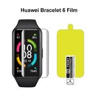 Película suave de TPU HD hidrogel de tres capas, Protector de pantalla fino y ligero para Huawei Band 6/Honor Band 6 Nano, a prueba de explosiones