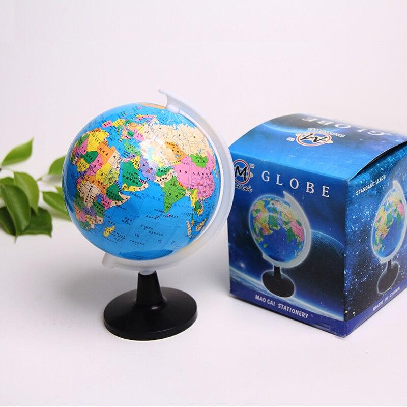 1 шт., глобус, Карта мира, земля, пластиковый шар, география, образование, кронштейн игрушки, развивающие игрушки, украшение дома, детские подарки