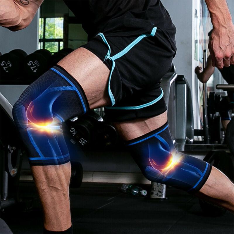 Elastic Compression Sleeve Knee Support Brace Knee Pads Sport Basketball Running