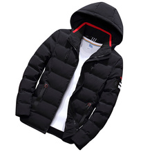 Cotton mens winter jacket fashion quality cotton thickening windproof thick warm brand clothing hooded coat