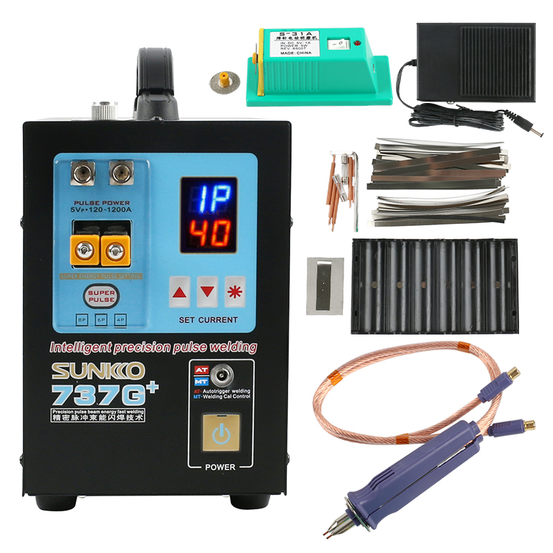 737G Upgraded Version 737G+ Multiple Pulses Precision Battery Spot Welding Machine 4.3KW LED Light For 18650 Battery Welding