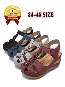 Heels Sandals Chaussures Wedges-Shoes Gladiator Femme Plus-Size Woman 45 Casual Soft-Bottom