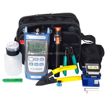 12 шт./компл. FTTH Набор инструментов для оптического волокна с волоконным кливером-70~+ 10dBm оптический измеритель мощности Визуальный дефектоскоп 10 мВт