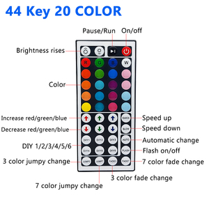 Image 2 - Led 스트립 조명 2835 멀티 컬러 키트 IP65 방수 유연한 RGB 300Led 44 키 원격 DC 12V 전원 공급 장치 실내