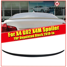 For BMW X4 G02 XM Look duckbill Trunk Wing Spoiler FRP Unpainted Black M Style X4M Rear Diffuser Lid Wings 18-in