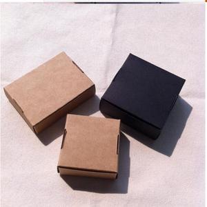 Image 4 - 50pcs kraft paper box White Black Kraft box for packaging Brown handmade gift soap paper boxes candy gift box