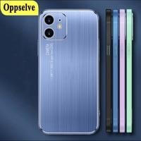 Nuova custodia per cellulare spazzolata in metallo Laser per iPhone 12 11 Pro XS Max XR X 7 8 6 6S Plus Capinhas Shell All-inclusive antigoccia