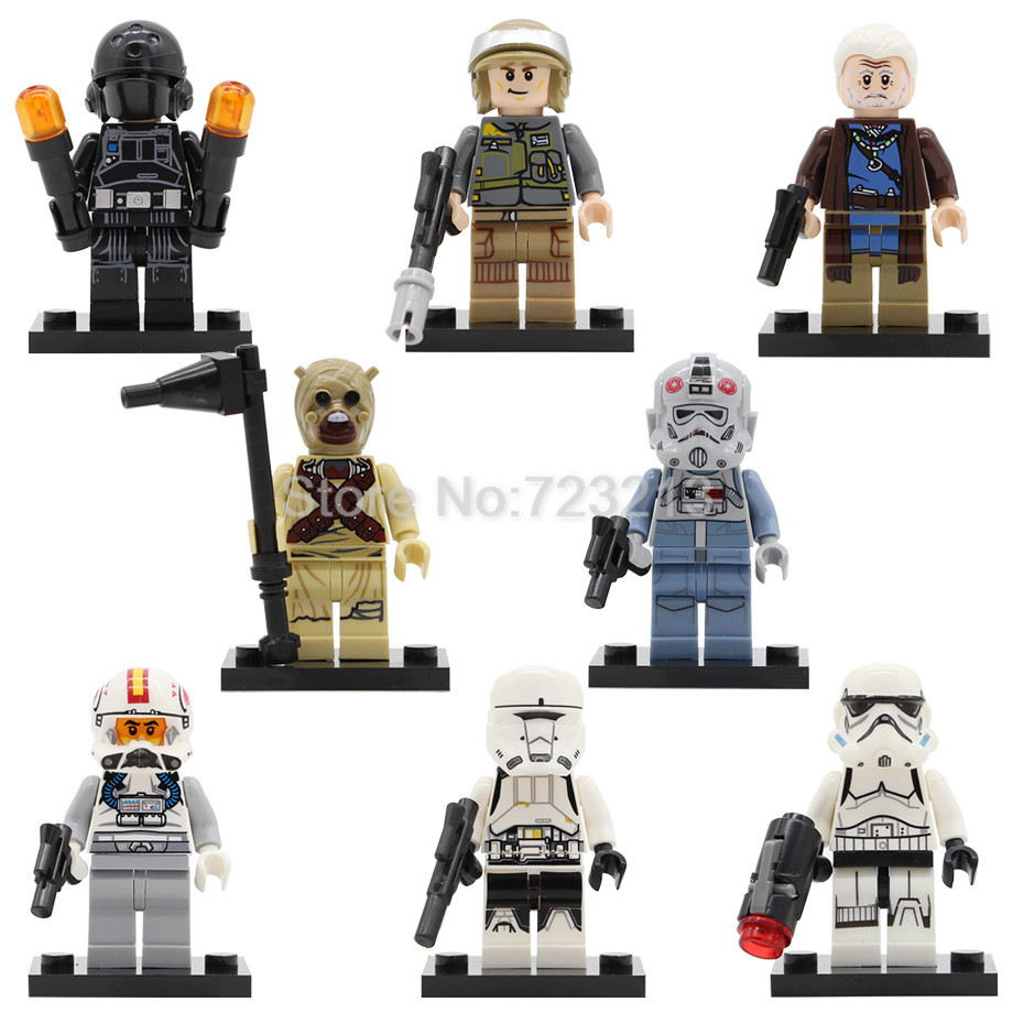 Single Sale Tusken Raider Figure AT-AT Driver Clone Turbo Tank Lor San Tekka Model Set Building Blocks kits Brick Toys Legoing