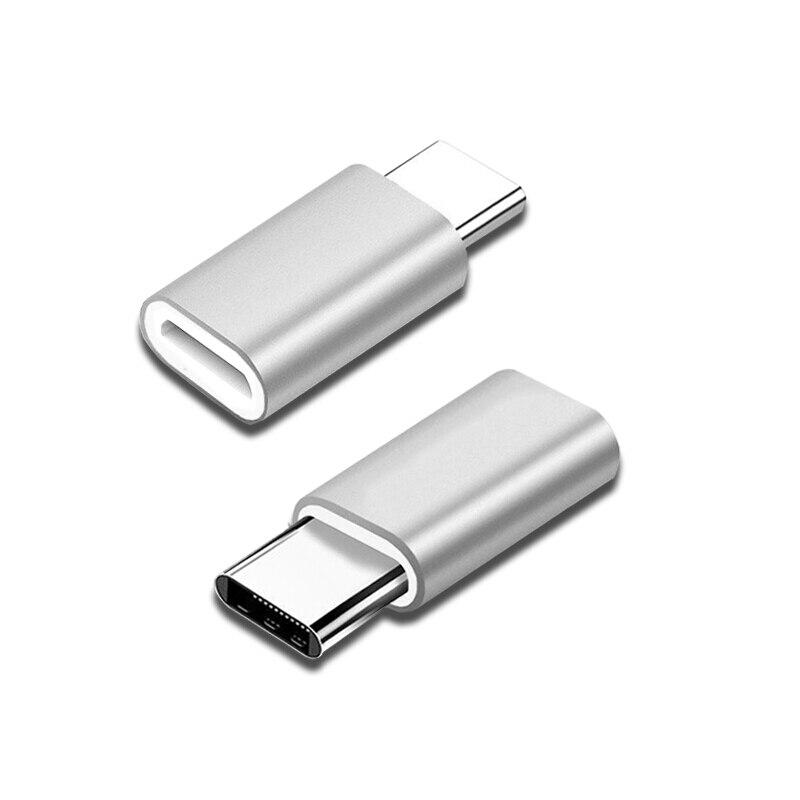 TypeC USB-C сплав конвертер зарядки для Lightning Pin toType-C разъем телефона адаптер для iPhone huawei P30 Xiaomi телефон