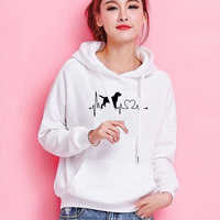 Dropshipping Neue Mode HUND MOM Druck Kawaii Sweatshirts Hoodies Frauen Tops Kleidung Cord Frauen Lustige Pullover