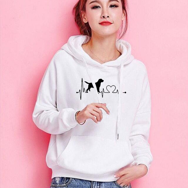 Dropshipping New Fashion DOG MOM Print Kawaii Sweatshirts Hoodies Women Tops Clothings Corduroy Frauen Funny Pullovers