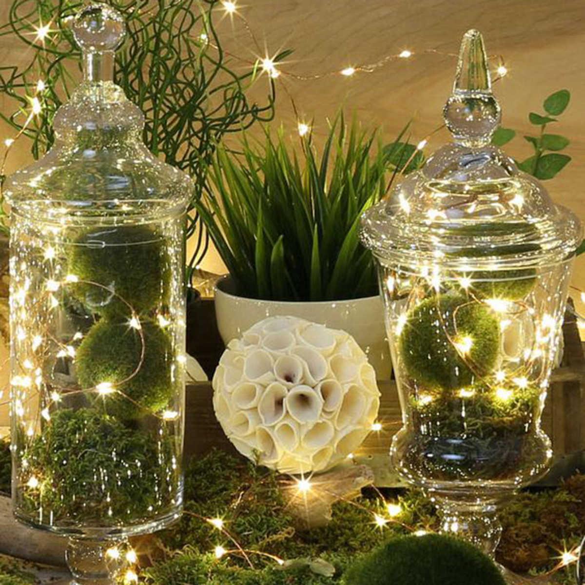 Huiran Đèn LED Chụp Ảnh Kẹp Dây Đèn Mộc Mạc Cưới Trang Trí Làm Cỏ Trang Trí Tiệc Cưới Sinh Nhật Tiếp Liệu Tiệc Giáng Sinh