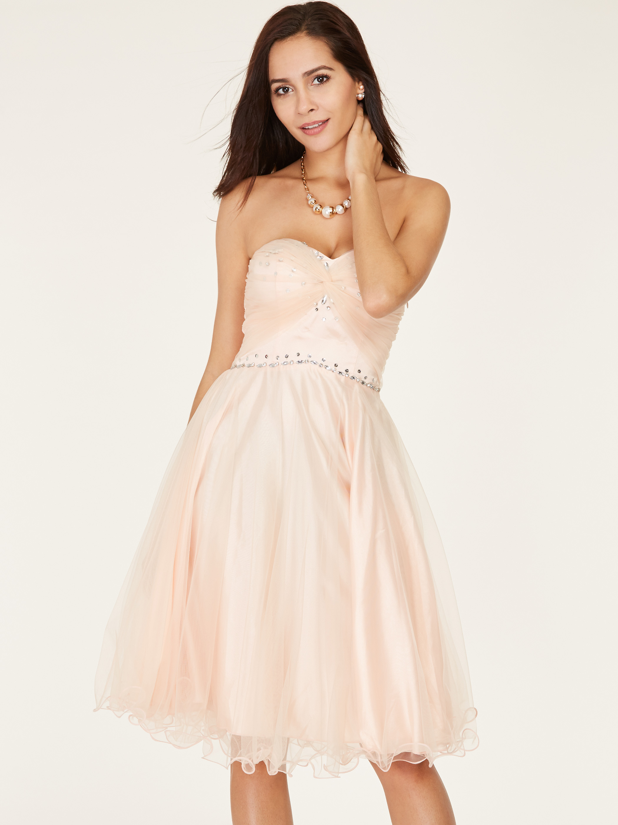 Dressv Short Homecoming Dress Pink Sweetheart Sleeveless Above Knee A Line Gown Lady Beaded Lace Up Cocktail Homecoming Dresses