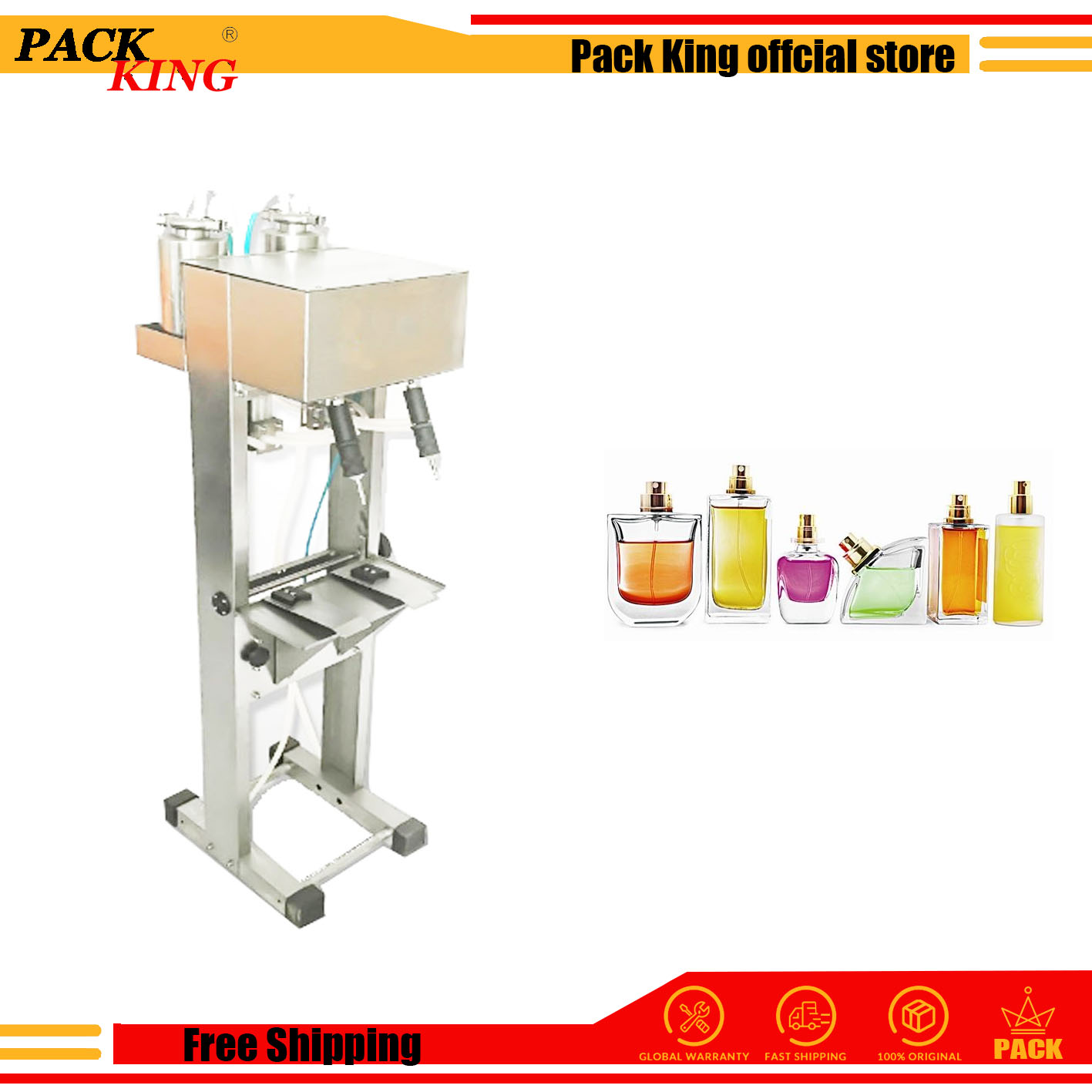 Pneumatic Perfume Filling Machine Perfume Filler Device  Vaccum Level Control 2heads Automatic Filling Tools Free Shipping