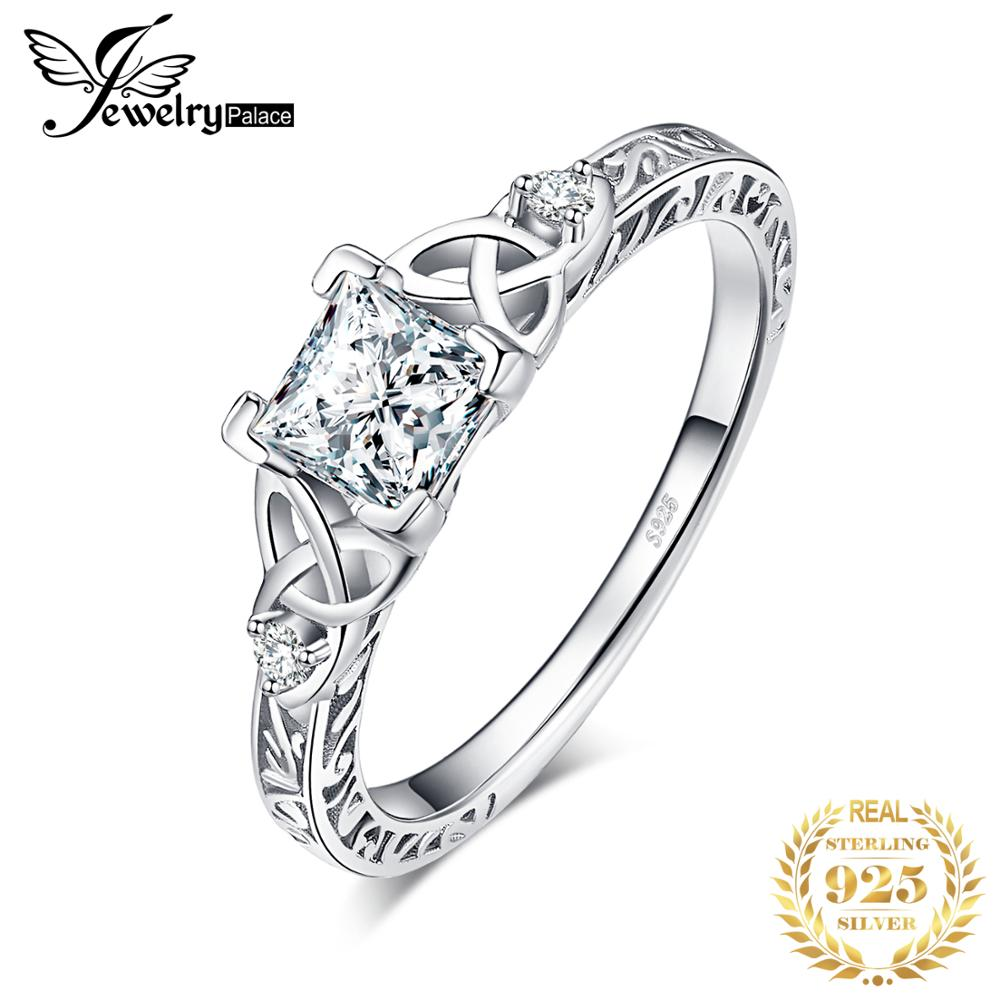 Classic Knot Ring 925 Sterling Silver Entinity Rings Engagement Wedding Jewelry