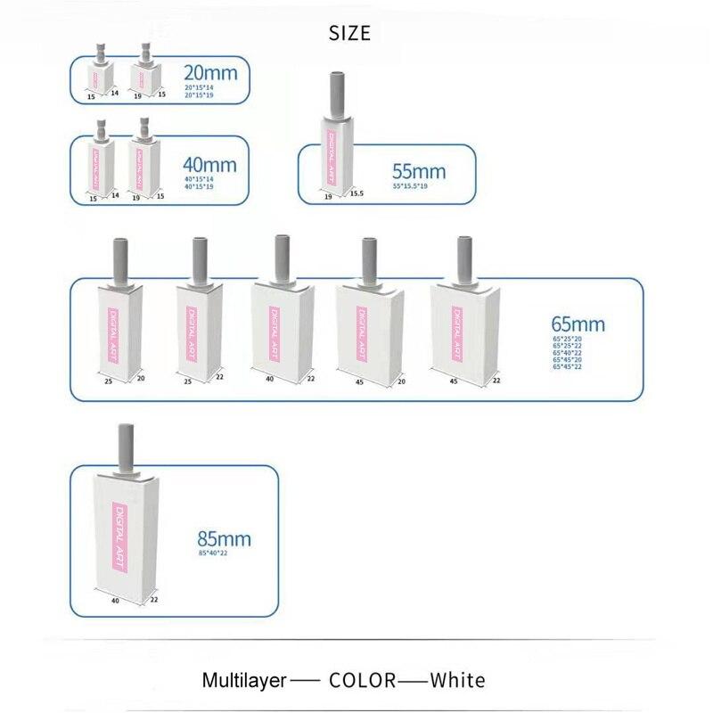 digitalart cad cam bloco 20 cores para dentista coroa temporaria coroa ponte pmma55 19 a1tod4 5
