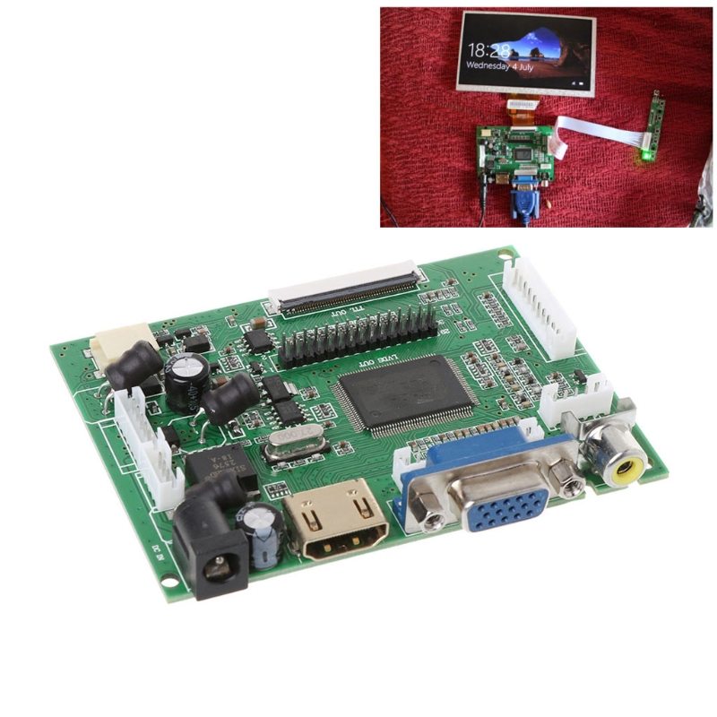 Drop&Wholesale AT070TN90/92/94 7inch VGA 50pin LCD Driver Board LCD TTL LVDS Controller Board