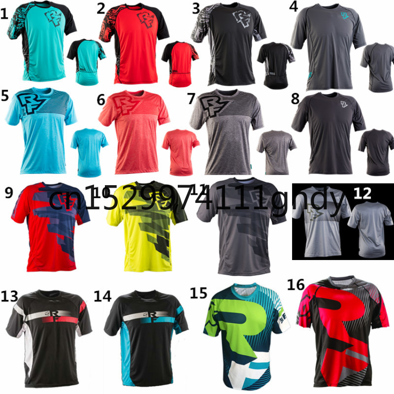 2019 New MENS Summer Clothing Black AM DH Quick Dry Breathable Cycling Jersey Short Sleeve Summer Men's T Shirt