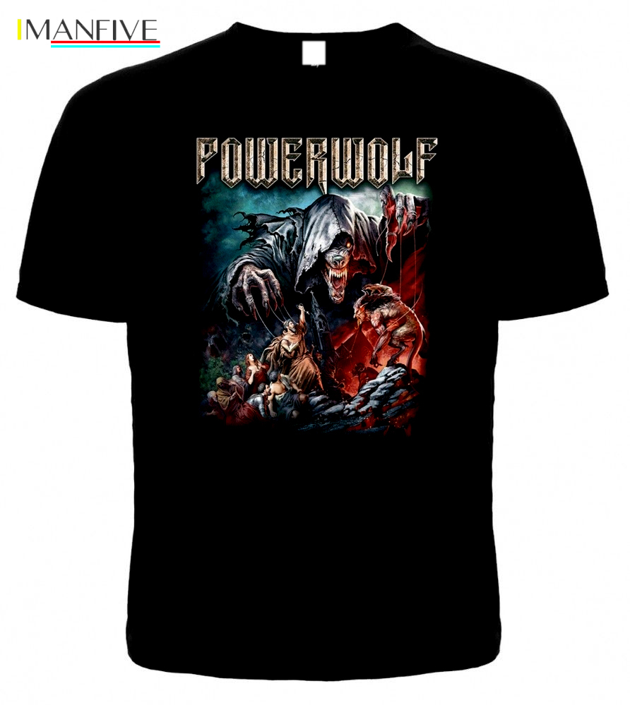 T shirt POWERWOLF THE SACRAMENT OF SIN New Different Size A Metal Nation Band 2019 New Men T Shirt Top Tee Plus Size in T Shirts from Men 39 s Clothing