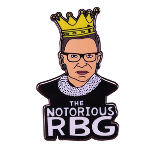 The notorious RBG feminist brooch Ruth Bader Ginsburg enamel pin women power equality badge political jewelry