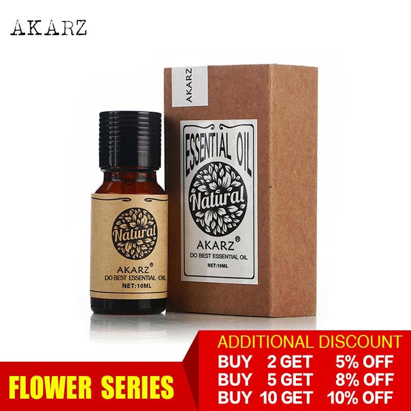 AKARZ piante professionali serie di fiori Top Sale olio essenziale aromatico per diffusori di aromaterapia viso corpo cura della pelle olio aromatico 1
