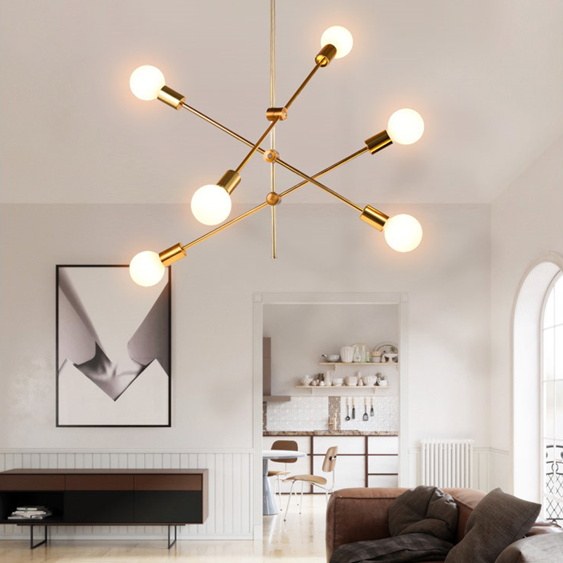 Modern Pendant Lights E27 110V 220V LED Lighting Nordic Gold Black Hanglamp Living Dining Room Kitchen Ceiling Hang Lamp Fixture