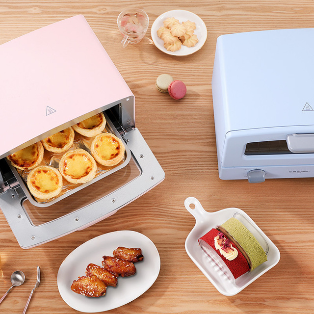 Donlim Electric Oven 12L Fully Automatic Mini Pizza Oven Household Kitchen Appliances Electric Toaster Oven Tart Timing Baking 4