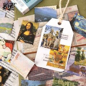 Image 4 - 20 zestawów/partia Kawaii papiernicze naklejki słynny obraz album dekoracyjne naklejki na telefon Scrapbooking DIY naklejka rzemieślnicza