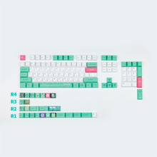 PBT Keycap Japanese Frog Cherry Profile Keycaps 6.25U Spacebar for GH60 GK61 GK64 84 87 104 108 Mechanical Keyboard