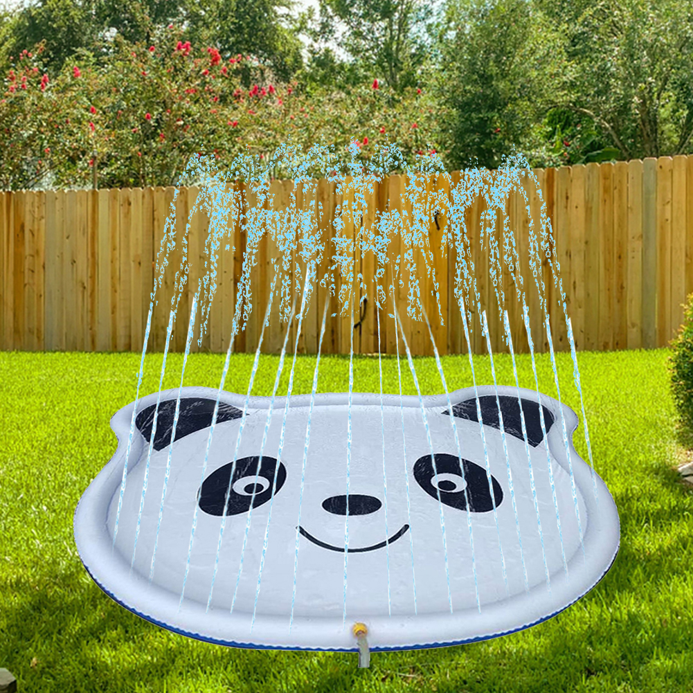 Sprinkler Mat Inflatable Spray Water Cushion Toysa Cute Panda Play Water Mat Games Beach Pad Lawn Sprinkler Pool Spray Pad