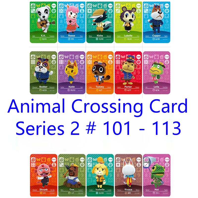 Series 2 #101-113 Animal Crossing Cards Amiibo Card Work For Switch 3DS NS Games Dropshipping Support Customized Card