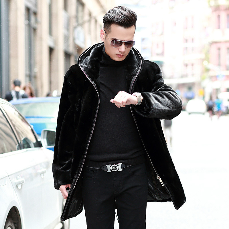 2020 Real Fur Coat Natural Mink Fur Coat Winter Jacket Men Clothes Mens Real Shearling Warm Outwear Veste Homme 87299M5 YY707
