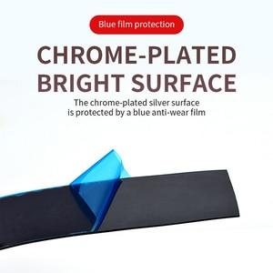 Image 3 - Chrome סטיילינג יציקת Trim רצועת רכב דלת מגן רצועות אוטומטי חלון מראה פגוש נגד התנגשות רכב גוף דקורטיבי Trim