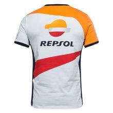 Мотогонки серии Гран-при Repsol Белый Оранжевый Повседневная футболка мотобайк мотогонок спортивный квадроцикл Для мужчин, футболка для девочек