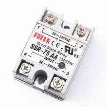 цена на SSR-75AA New Original FOTEK SSR 90-480VAC 75A Solid State Relay Price