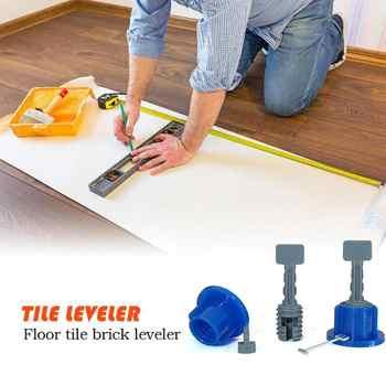 50Pcs Flat Ceramic Floor Wall Construction Tools Reusable Tile Level Wedges Tile Spacers Kit Tile Leveling System Kit For Tile