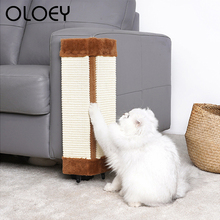 2 Styles Sofa Furniture Protector Cat Kitten Scratch Board Pad Sisal Toy Cat Claw Care Product Cats Scratcher Paw Pad Supplies