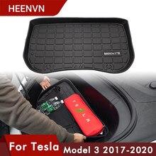 Heenvn-alfombra frontal para maletero de coche, estera de TPE, suelo de goma, sin olor, Modelo 3 para Tesla, accesorios compatibles con Argo antes de la bandeja de carga, impermeable