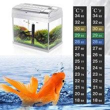 1PCs Stick-on Digital Aquarium Fish Tank Fridge Thermometer Sticker Measurement Stickers Temperature Control Tools Products
