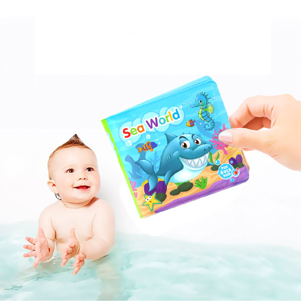 New Arrival Bath Books Baby Education Toy Intelligence Development Floating Cognize Book Rattle