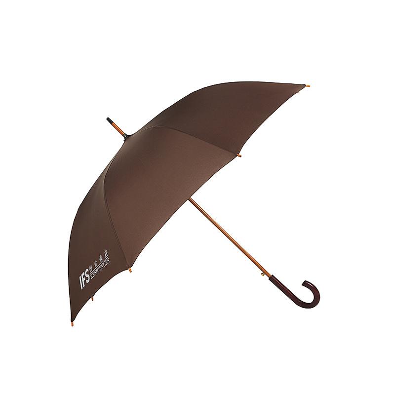 Manufacturers Wholesale Customizable New Style Creative Wood Umbrella Stand Straight Umbrella UV-Protection College Style Rain O