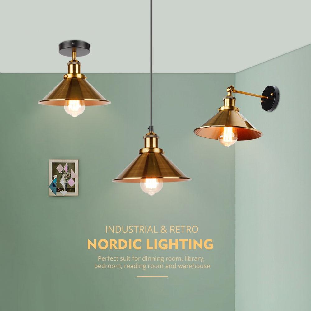 lampada de parede luz sconc industrial retro 02