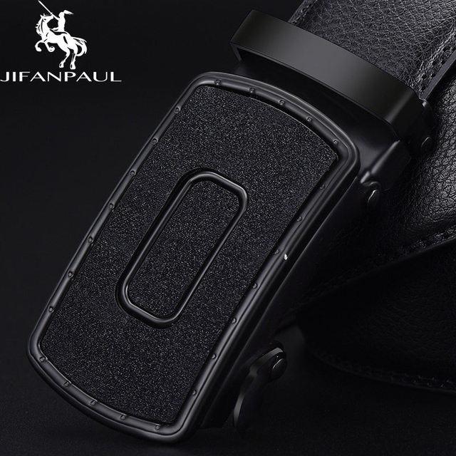 Leather genuine black fashion alloy luxury belt 2