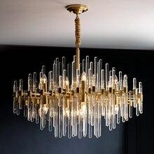 الحديثة LED كريستال الثريا الشمال ثرية من النحاس لغرفة المعيشة بسيطة غرفة الطعام مصباح الفاخرة فيلا الديكور مصباح