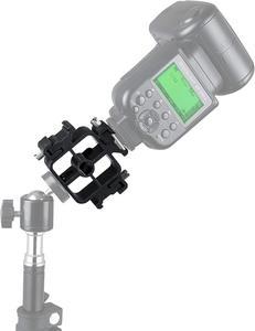 Image 5 - Triple Cold SHOE Mount Flash พร้อม Ballhead อะแดปเตอร์โทรศัพท์ผู้ถือการถ่ายภาพร่มสำหรับ LED จอภาพสมาร์ทโฟน