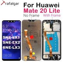 Orijinal ekran için Huawei Mate 20 Lite LCD ekran dokunmatik ekran Digitizer için Huawei Mate 20 Lite LCD ekran SNE LX1 LX2 LX3