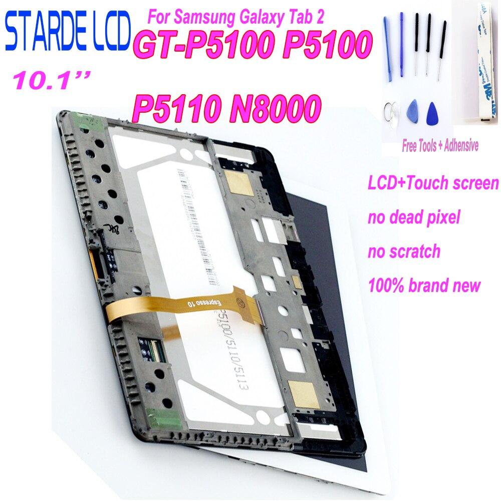 Dla Samsung Galaxy Tab 2 10.1 gt-p5100 P5110 P5113 N8000 wyświetlacz LCD ekran dotykowy Panel Digitizer zgromadzenie wymiana naprawa