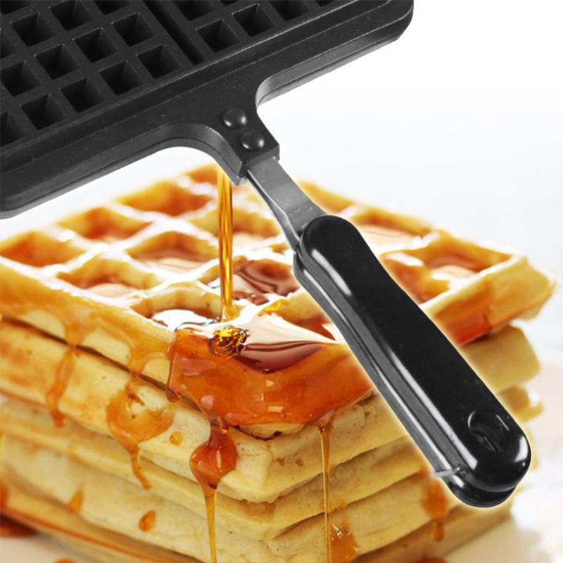 Portable Non Stick Waffle Maker Machine With Made Of Aluminum Alloy For Home Kitchen 14