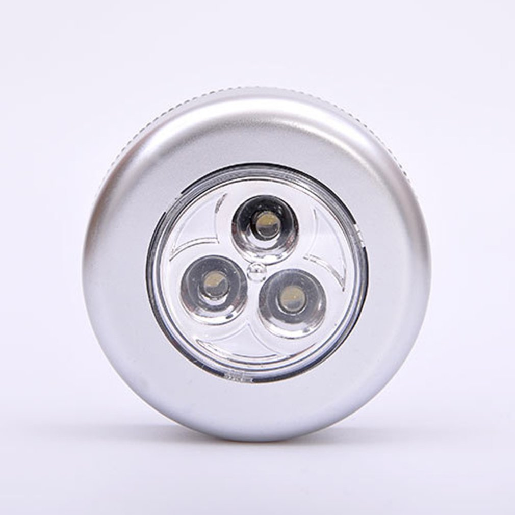 3 Led Small Pat Lamp Touch / Emergency Light Creative Paste/Bedroom Bedside Lighting Sticker  Night Lamp